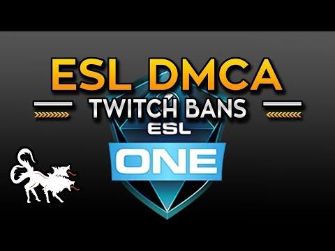 ESL files DMCA strikes against DOTA 2 Twitch Streamers