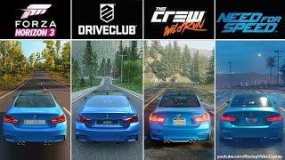Forza Horizon 3 vs. DriveClub vs. The Crew vs. Need For Speed | Graphics, Rain Comparison PS4 & Xbox