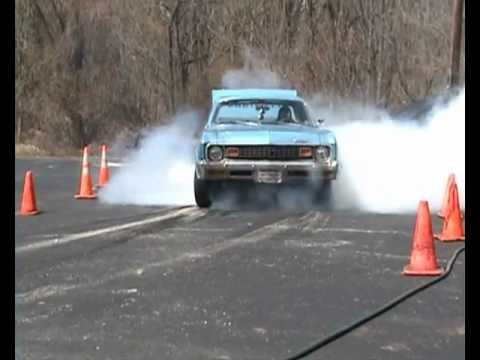 Mini Cooper vs. Camaro vs. Nova in burnout competition