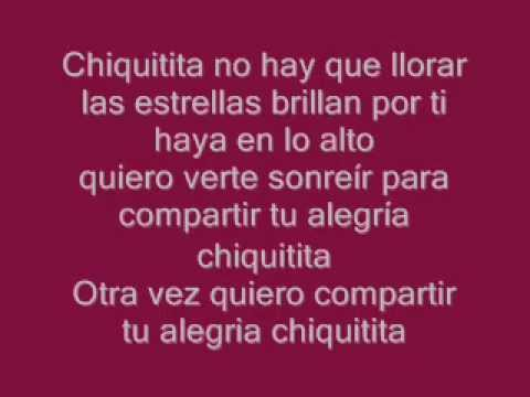 Chiquitita ABBA Español Letra (1979)