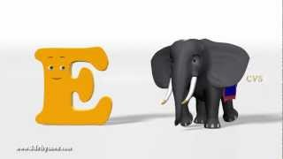 A is For Apple Nursery Rhyme- 3D Animation Alphabet ABC Phonics Songs for children