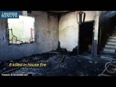 Eight people including a mother and her five daughters were killed after a fire broke out at a home in Barka