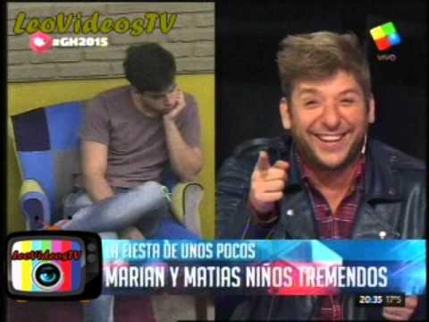 Matias y Marian como dos nenes pequeños GH 2015 #GH2015 #GranHermano