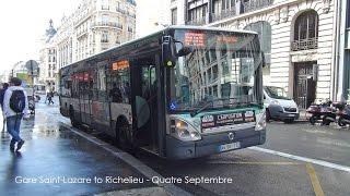 Video Paris Bus RATP Irisbus Citelis Rt. 20 Gare Saint-Lazare to Bourse MP3, 3GP, MP4, WEBM, AVI, FLV Mei 2017