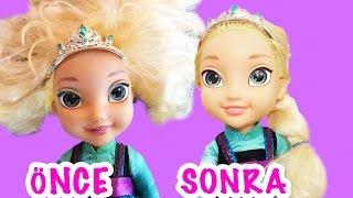 Video Kraliçe Elsa Oyuncak Bebek Saçı Nasıl Düzeltilir | Yıpranmış Saçlara Bakım | EvcilikTV MP3, 3GP, MP4, WEBM, AVI, FLV Desember 2017