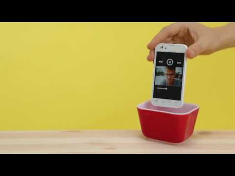 ¡Amplifica el sonido de tu móvil con una taza o cuenco!.