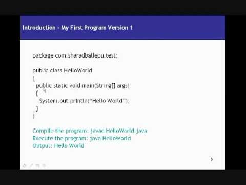 Core java video tutorial part- 1