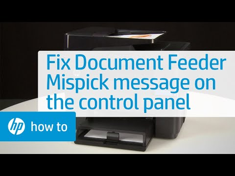 'Document feeder mispick' Message Displays on the Control Panel
