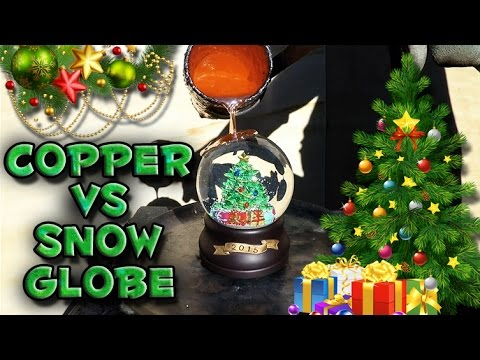 What Happens When Molten Copper Is Poured on Top of a Christmas Snow