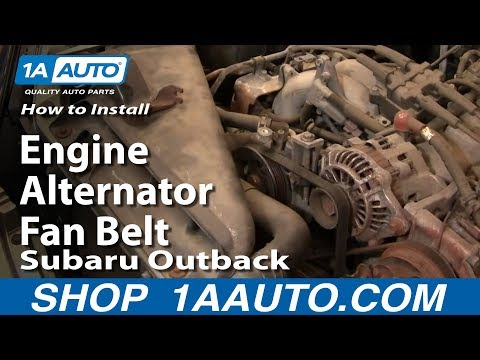 How To Install Replace Service Engine Alternator Fan Belt Subaru Outback 00-04 1AAuto.com