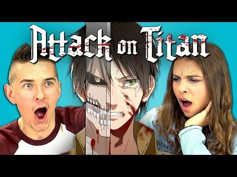 reactions - Attack on Titan Bonus Reactions: http://goo.gl/1VfEUV SUBSCRIBE! New vids every Sun/Thu/Sat: http://goo.gl/aFu8C Watch all episodes of REACT http://goo.gl/4i...