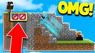 MINECRAFT BEST INVISIBLE FLOOR TROLL! (Minecraft SKYWARS Trolling)