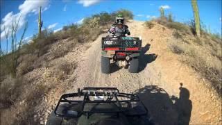 4. 2006 Honda Rancher AT & 2009 Recon ES Climb to the Mountains Part 1