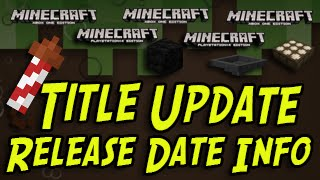 Minecraft Title Update - RELEASE DATE News and Discussion! (PS4, PS3, PSVita, Xbox One, Xbox 360)