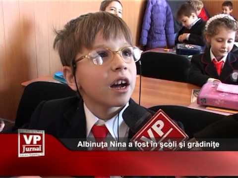 Albinuţa Nina a fost în şcoli şi grădiniţe