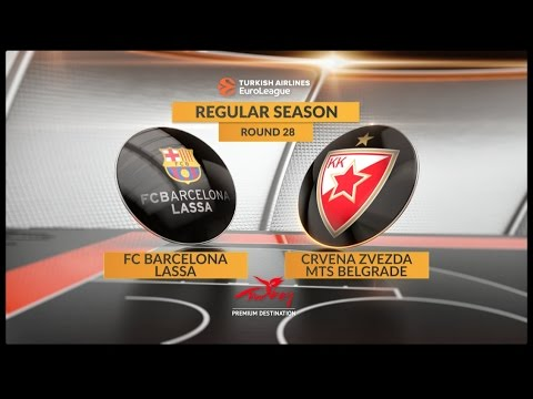 EuroLeague Highlights RS Round 28: FC Barcelona Lassa 67-54 Crvena Zvezda mts Belgrade