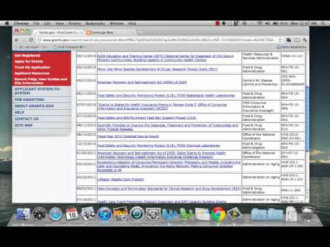 How to search Grants.gov for opportunities.mp4