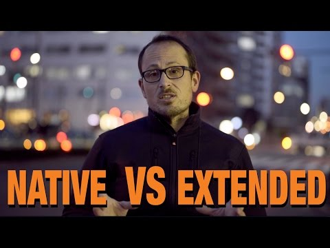 Native VS Extended ISO range