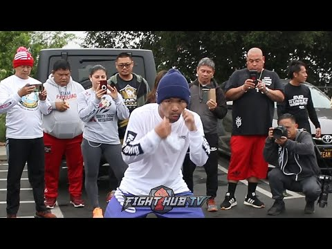 MANNY PACQUIAO ON FIRE TRAINING TO KO KEITH THURMAN, BLAZING SPEED