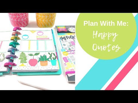 Mini Plan With Me  Happy Quotes