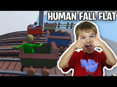 GRANNY AND BALDI RACING ON A BOXES in HUMAN FALL FLAT
