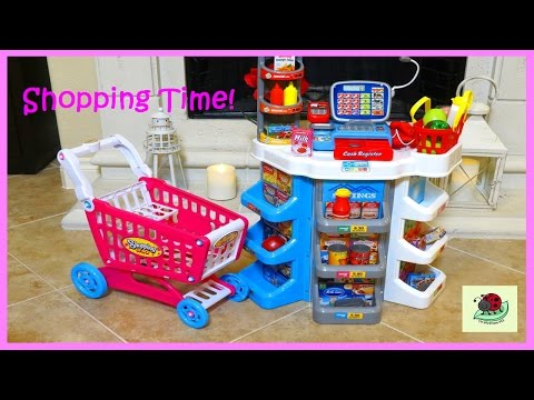 Toys SUPERMARKET Playset PLAY PRETEND Grocery Shopping CASH REGISTER