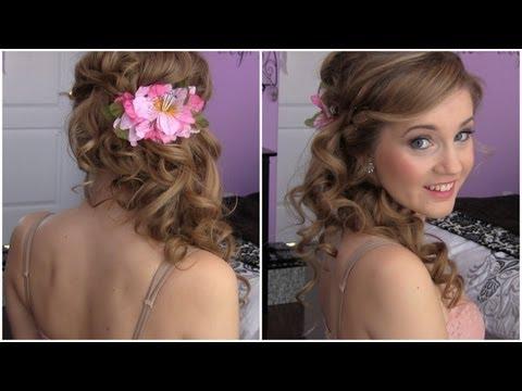 Side Swept Cascading Curls – Easy DIY prom hair tutorial!