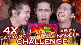 Video 4X SPICY FIRE NOODLE CHALLENGE!!! MP3, 3GP, MP4, WEBM, AVI, FLV Oktober 2018