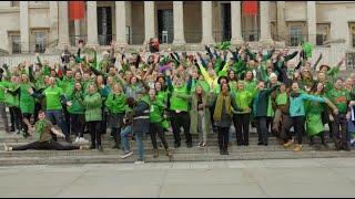 Giant human shamrock marks St Patrick's Day