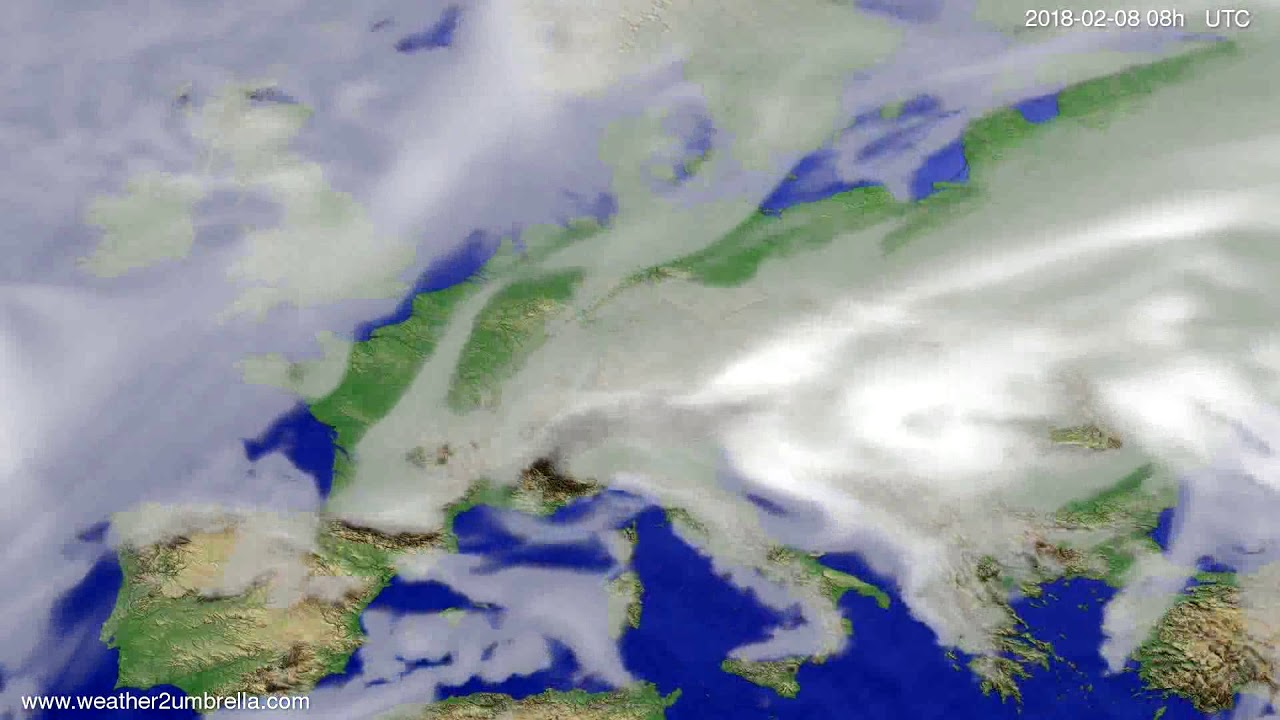 Cloud forecast Europe 2018-02-05