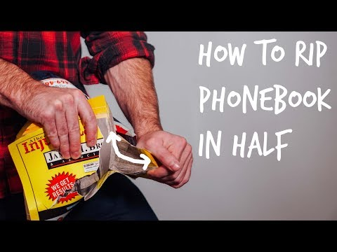 Weak Guy Learns How to Tear a Phonebook in Half
