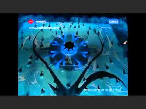 Mevlana Etme Universiade 2011 Erzurum  Açılış Gösterileri -Semazen-Etme-Yılmaz Erdoğan.wmv