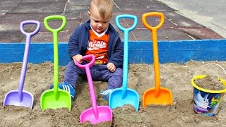 Video Learn Colors with Shovel Toys for Children, Toddlers & Babies | JOHNNY JOHNNY Yes Papa Song for Kids MP3, 3GP, MP4, WEBM, AVI, FLV Juni 2017