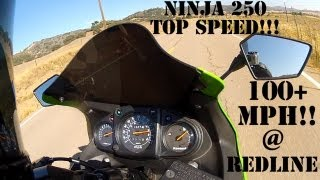 2. 2009 Kawasaki Ninja 250R Top Speed 100+ MPH!!!