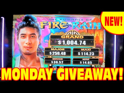 Fire & Rain – NEW SLOT MACHINE Bonus – MONDAY GIVEAWAY!