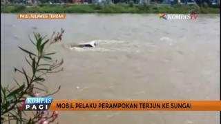 Ingin Kabur dari Polisi, Mobil Perampok Ini Terjun ke Sungai