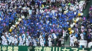 全国高校野球選手権 日本文理高校の応援 紅 狙い打ち.