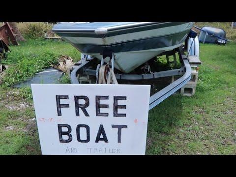 Free Boat While Dumpster Diving!   OmarGoshTV