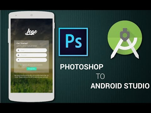 Login screen from Photoshop to Android Studio