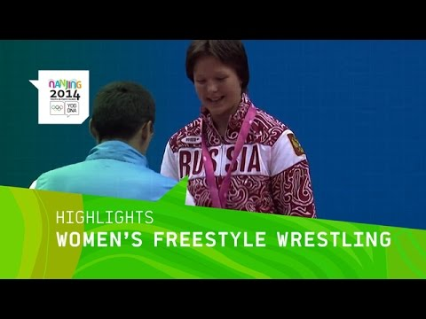 wrestling - Highlights from Day 10 at the Nanjing 2014 Youth Olympic Games with the Women's Freestyle Wrestling 70Kg Weight Division. Medals: Gold - Daria Shisterova (RU...