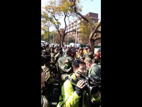 Struggle Songs for Mandela –  Outside Heart Hospital Pretoria. South Africa