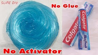 DIY Toothpaste Fluffy Slime!! No Shaving Cream, No Glue, No Borax! MUST WATCH! | Part 1