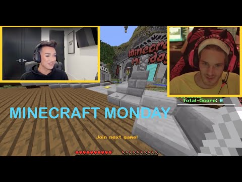 [Official] PewDiePie Plays With James Charles In Minecraft Monday On DLive (FULL REPLAY)