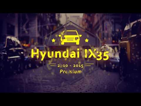 """Чехлы на Hyundai IX 35, серии """"Premium"""" - серая строчка"""