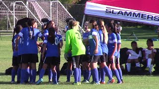 Real So Cal wins 3-0 vs Slammers EGSL G04 (Brooks). Goals by Natalia, Jackie, and Aleeza. http://home.gotsoccer.com/rankings/team.aspx?teamid=804629.