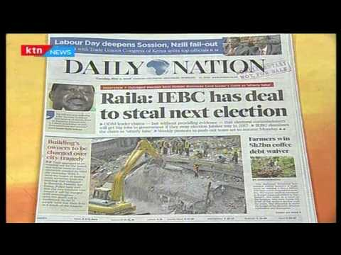 Raila Odinga 'reveals' the pact between IEBC and Jubilee government