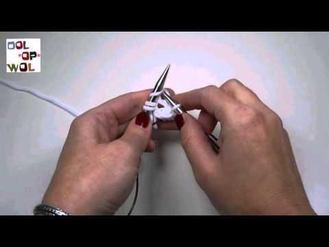 Kleine cirkels rondbreien met lange kabels; uitleg Dol op Wol
