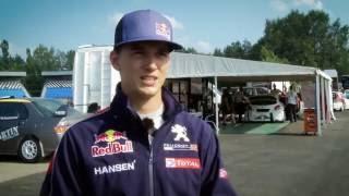 Timijs Hansens par jauno Biķernieku rallijkrosa trasi