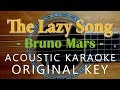 Download Lagu The Lazy Song - Bruno Mars [Acoustic Karaoke] Mp3 Free