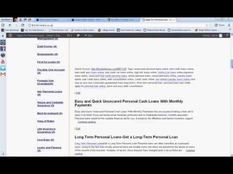 Instant Online Personal Loans Bad Credit-Guaranteed Unsecured Loans
